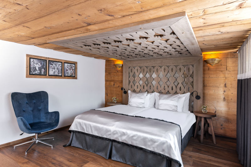 VIP-Wellness in Gonten - Boutique Hotel Bären Gonten - Doppelzimmer originell